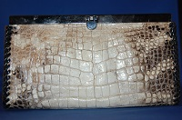 Kelli clutch style ladies wallet with Alligator leather