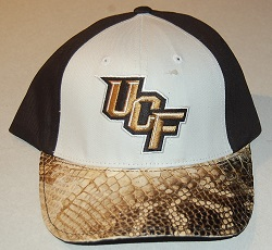 UCF ball cap hat alligator gator leather skin
